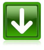Arrow down icon green — Stock Photo