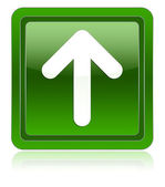 Icon arrow up green — Stock Photo