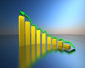 Business graph, chart, diagram bar — Stock Photo