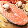 Salmon with vegetables — Stock Photo #2568795