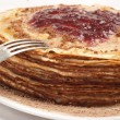 Stock Photo: Pancake with jam
