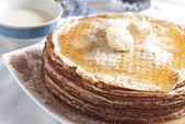 Pancake with jam — Stock Photo
