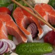 Salmon with vegetables — Stock Photo #2578639