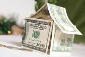 House bild from dollars — Stock Photo