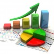Business finance chart, graph, diagram, — Foto de Stock