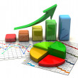 Stock Photo: Business finance chart, graph, diagram,