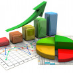 Business finance chart, graph, diagram, — ストック写真