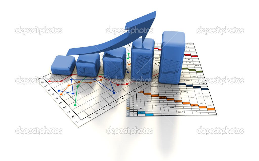 Business finance chart, graph, diagram, — Foto Stock #2609451