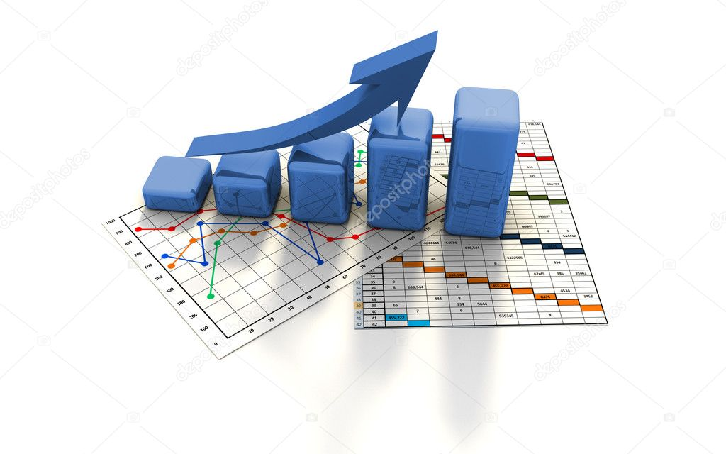 Business finance chart, graph, diagram, — 图库照片 #2609451