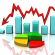 Stock Photo: Business chart, diagram, bar, graphic