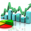 Business finance chart, graph, diagram — Stock Photo
