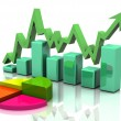 Business finance chart, graph, diagram, — Stock Photo
