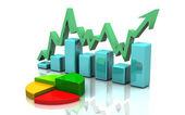 Business finance chart, graph, diagram — Stock Photo