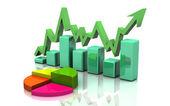 Business finance chart, graph, diagram, — Stock Photo