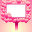 Frame of hearts — Stock Vector #2453565