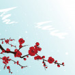 Blooming sakura — Stock Vector