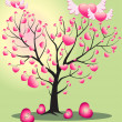 Tree of love from the hearts — Stock Vector #2453650