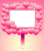 Frame of hearts — Stock Vector