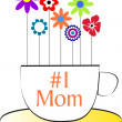 Number 1 Mom Cup — Stock Vector
