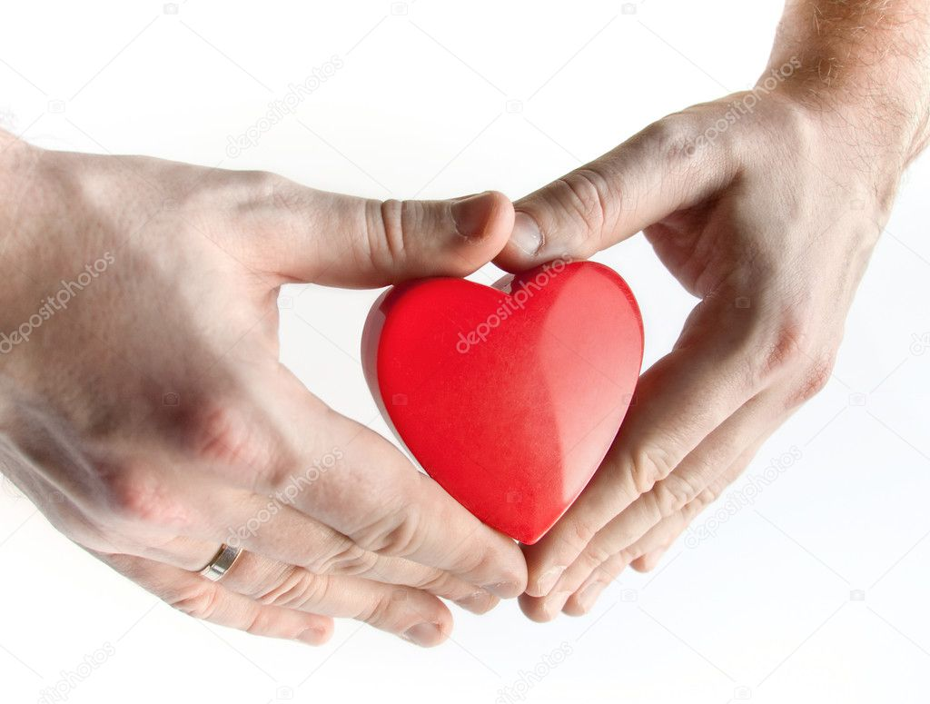 Heart in hands on white background — Stock Photo #2270057