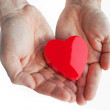 Royalty-Free Stock Photo: Heart on man\'s hands