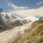 Vieuw on a glacier top — Stock Photo