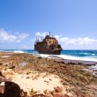 Caribbean shipwreck - Stock Photo