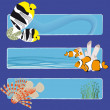 Stock Vector: Fish banners 3 no text