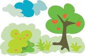Meyve orman ağacı — Stok Vektör