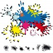 Abstract inkblots - Stock Vector