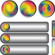 Rainbow fantasy web buttons - Stock Vector