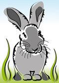 Kleiner hase im gras — Stockvektor