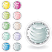 Rounded buttons in pastel tint — Stock Vector