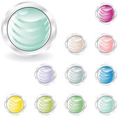 Web buttons in pastel tint — Stock Vector