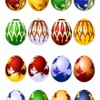 Easter eggs vector icon set — Stock Vector
