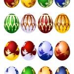 Easter eggs vector icon set — Stock Vector