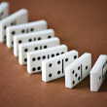 Domino entertainment play game — Stock Photo