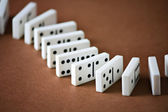 Domino entertainment play game — Stock Photo