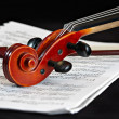 Violin music classic string instrument - Stock Photo