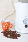Jug kettle coffee and cup — Stock Photo
