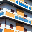 farbenfrohe Apartment block — Lizenzfreies Foto