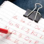 Alphabet scribbles — Stock Photo