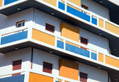 Colourful apartment block — Stock Photo