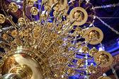 Brass chandelier — Stock Photo