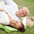 Couple having a romantic picnic — Stock Photo