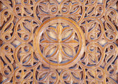 Ornate carved wood — Stock Photo
