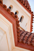 Close up of cretan church roof — Stock Photo