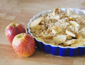 Apple crumble pie — Stock Photo