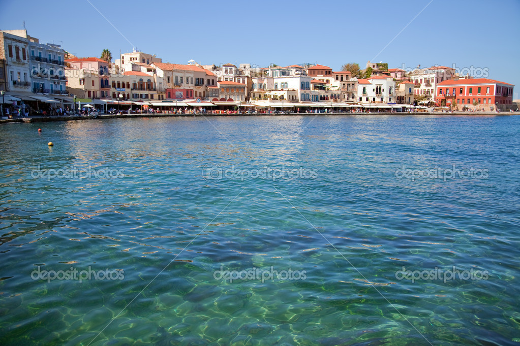 Beautiful colors in venetian port town Chania. Crete, Greece. — Stock Photo #2442345