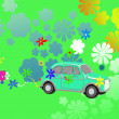 Flower Power hippie car fantasy — Stock Photo #2458224
